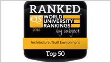 Top 50 world ranking for Architecture