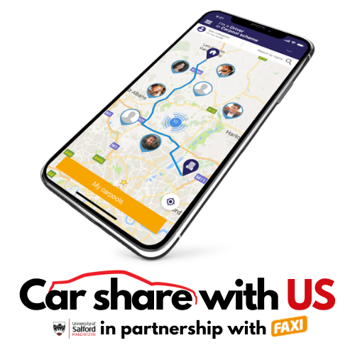 Car share with US logo with screen